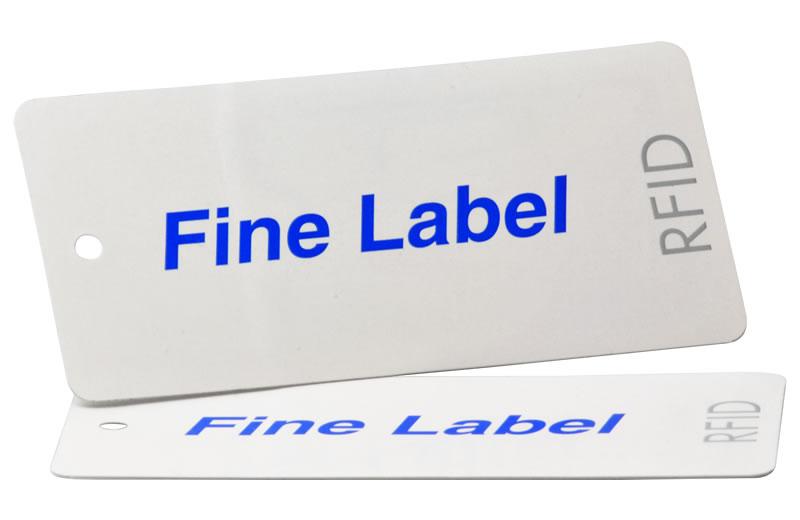アパレルタグ(タイプH)RFIDラベルプリンタ対応の貼り合わせタイプの単... RFID ICタ