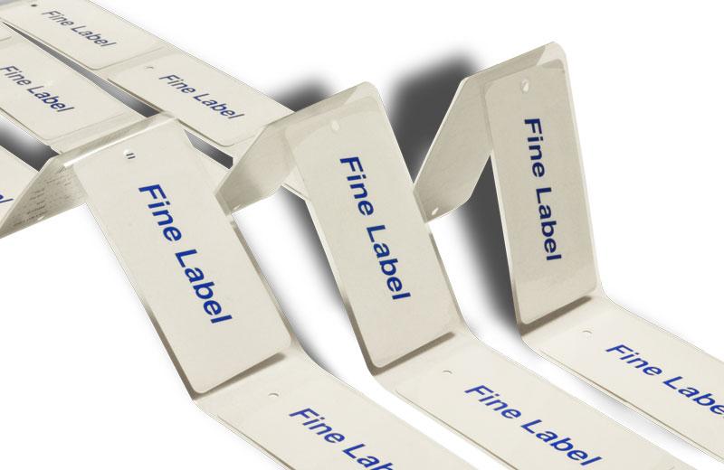 アパレルタグ(タイプF)RFIDラベルプリンタ対応の単枚アパレルタグです... RFID ICタ